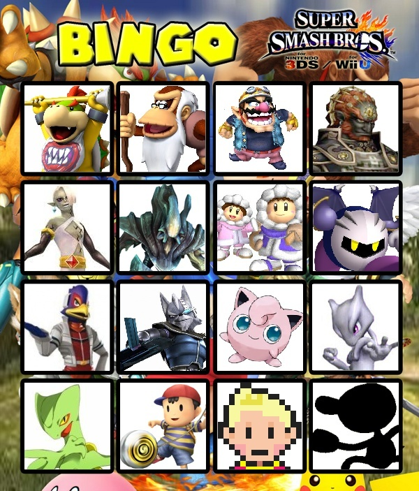 Le roster final de Super Smash Bros. for Wii U / 3DS (Débat/Discussion) Bingo_10