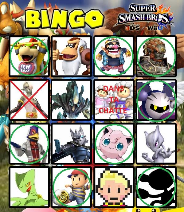 Le roster final de Super Smash Bros. for Wii U / 3DS (Débat/Discussion) - Page 4 Bingo_11