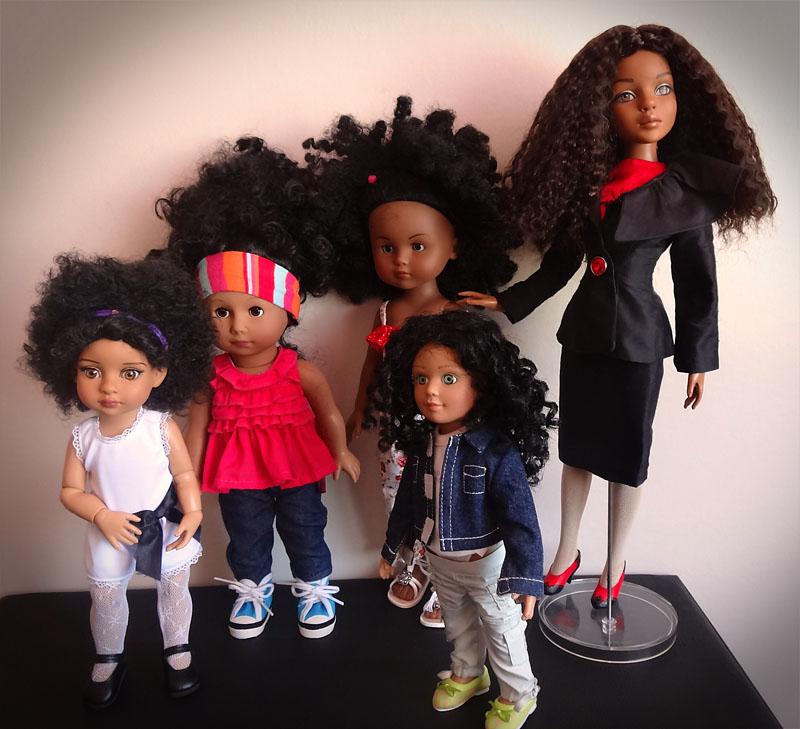 Trixie et mes poupées noires frisées 229
