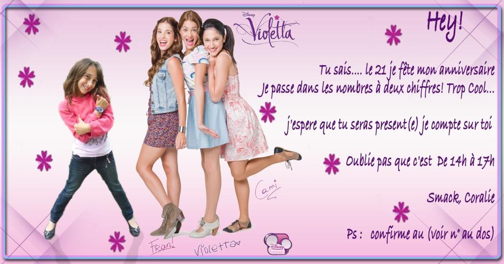 """Invitation """"Violeta"""" pour coco - 10 ans 2110"""