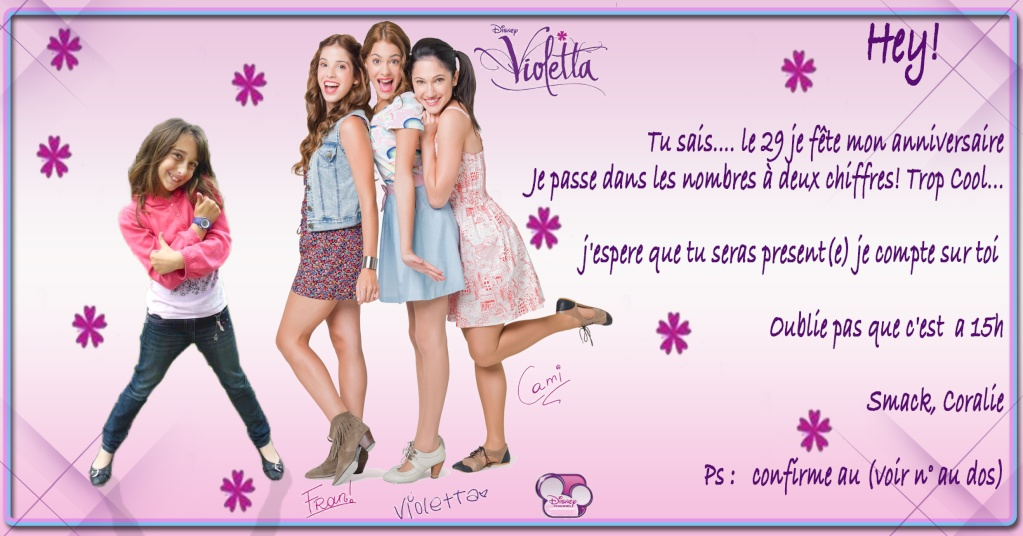 """Invitation """"Violeta"""" pour coco - 10 ans 2910"""