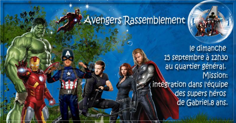 carte invitation anniversaire pour mon garçon sur le thème avengers Avenge10