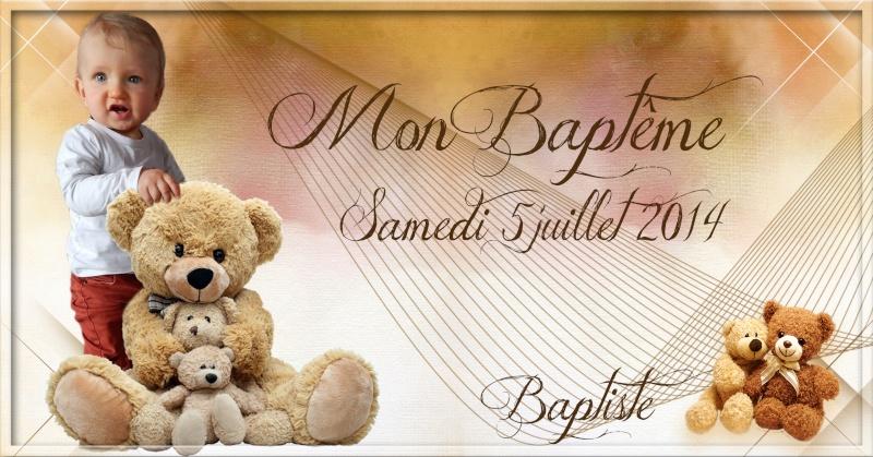 montage bapteme theme ours  Baptis11