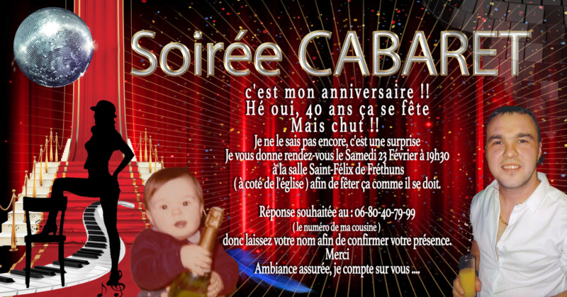 Carte d'invitation Cabare12