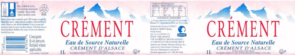 étiquette bouteille crement et eau Cremen11