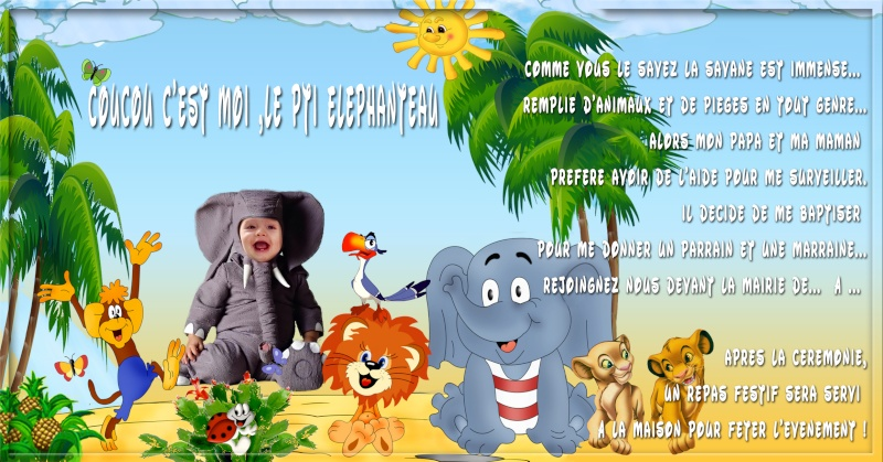 Baptême jungle Elepha12