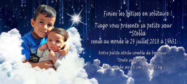 Finalisation faire-part naissance stella Etoile19