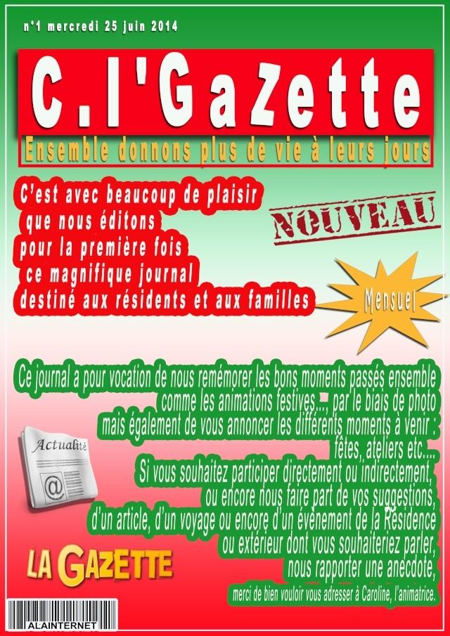 """montage pour ALAIN UGENT """"la premiere page d'un journalé"""" Gazett11"""