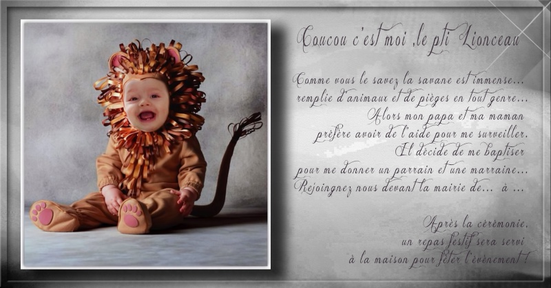 Baptême jungle Lionce10