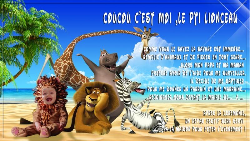 Baptême jungle Lionce11