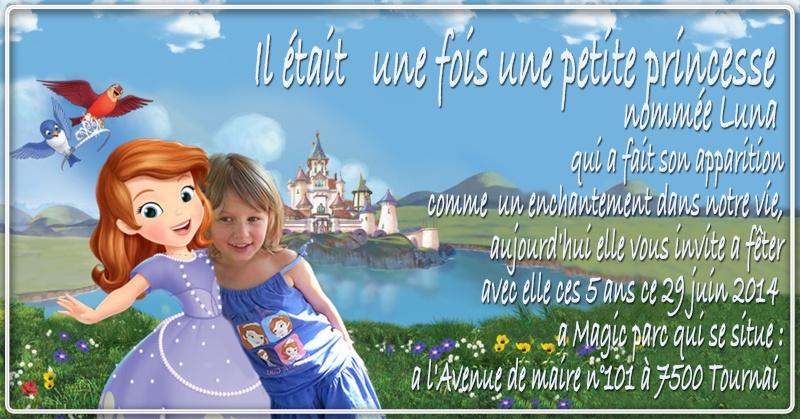 anniversaire luna thème princesse sofia 5ans Sans_t34