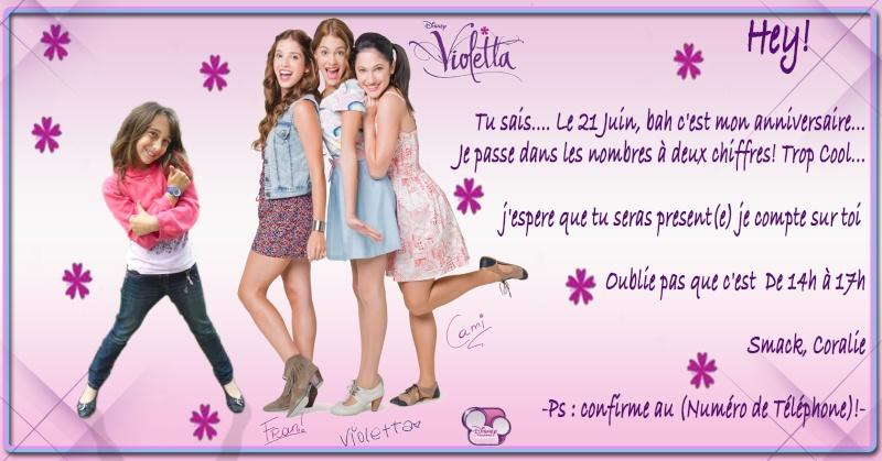 """Invitation """"Violeta"""" pour coco - 10 ans Sans_t35"""