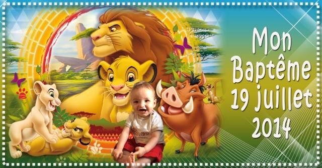 """faire part baptème thème """"Le Roi Lion"""" Sans_t48"""
