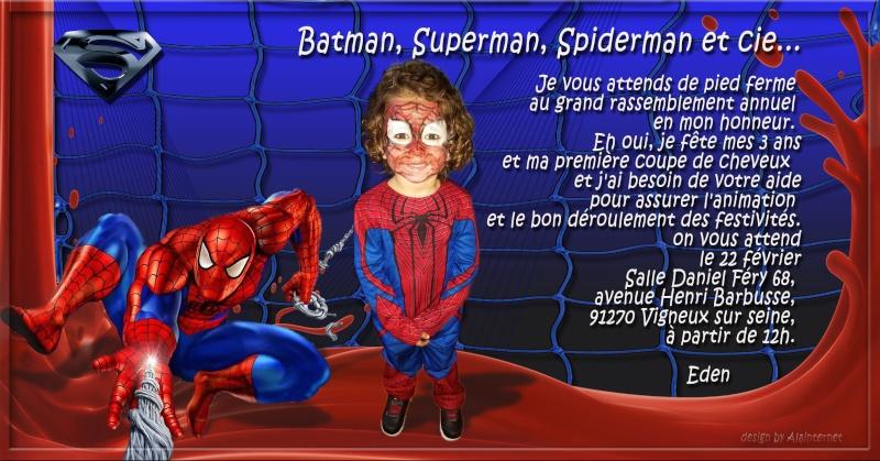 Demande montage pour invitation spiderman Spider13