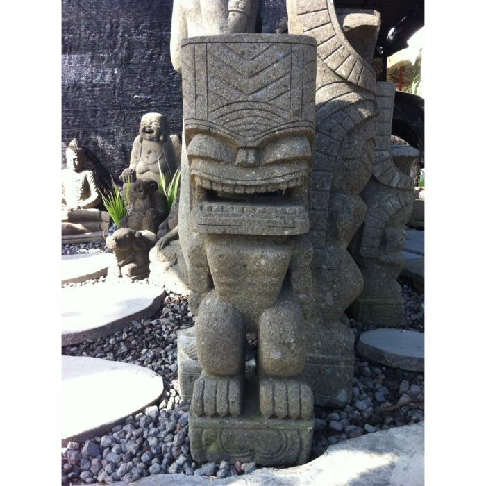 statue Tiki en Bois ou Pierre Tiki-p10