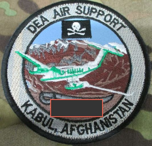Afghanistan NIU, Counter Drug -Narco, DEA, US Military Narcoterrorism Patches Dea110