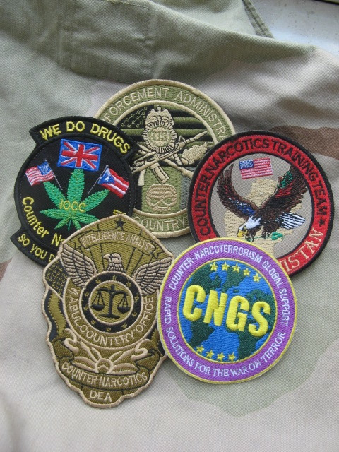 Afghanistan NIU, Counter Drug -Narco, DEA, US Military Narcoterrorism Patches Dea210