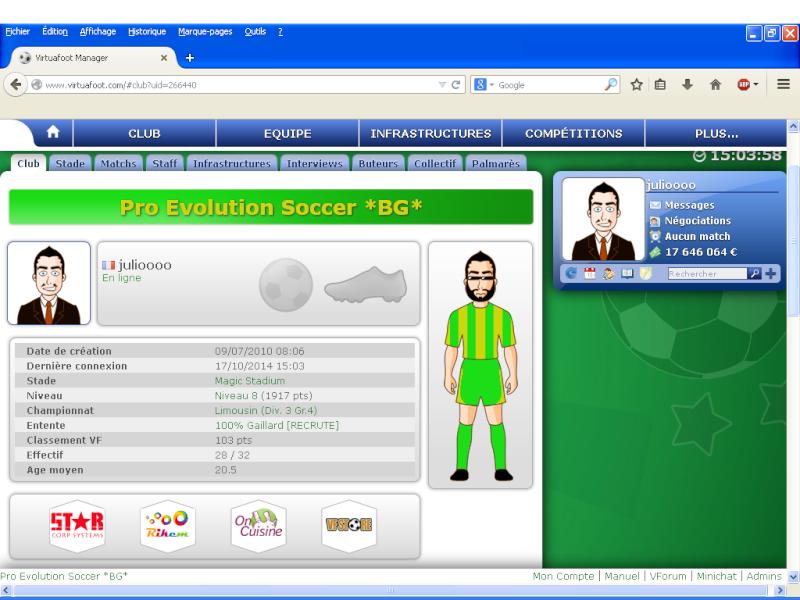 Pro Evolution Soccer [Saison 65] Pageac10