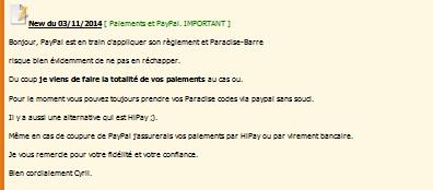 Paradise-Barre [Site disparu - Membres impayés] - Page 12 News_p10