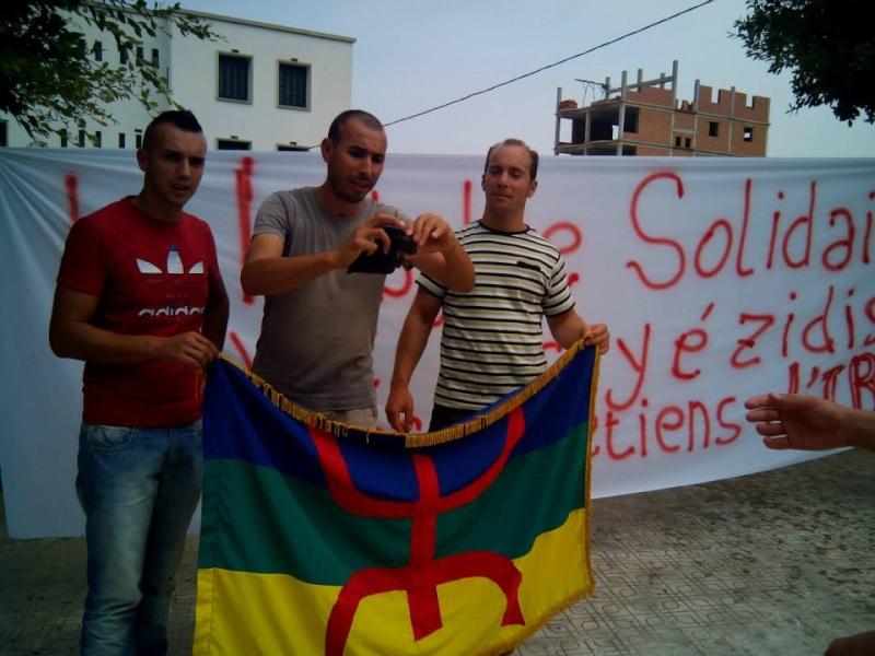 Rassemblement de soutien aux chrétiens d'Irak et aux Yézidis à Aokas (20/09/2014) Tizi_n11