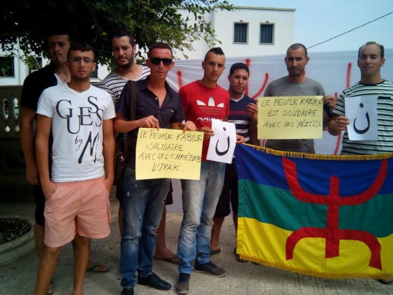 Rassemblement de soutien aux chrétiens d'Irak et aux Yézidis à Aokas (20/09/2014) Tizi_n14