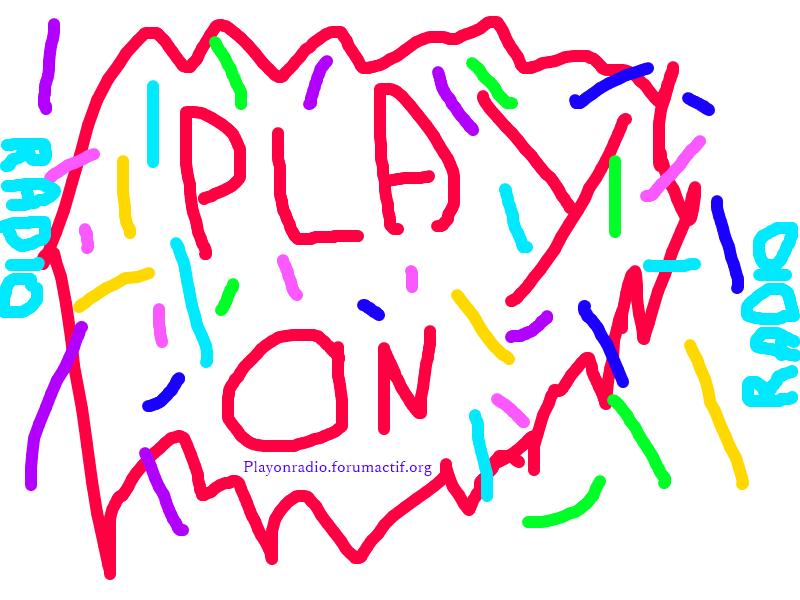 Un logo pour Play On Radio. Play_o10