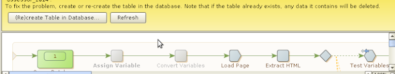 How can avoid Database Waring Message?? Db10