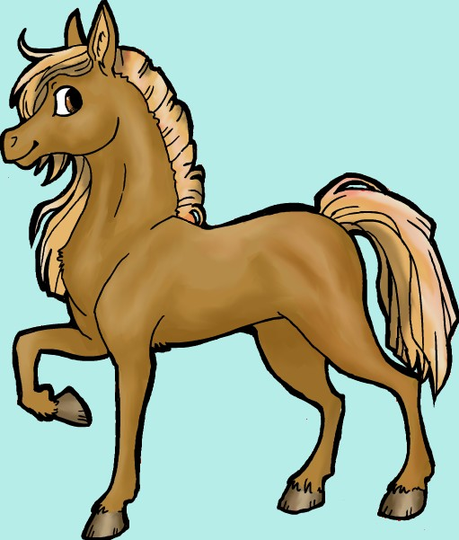 Colorisation d'un cheval sur Gimp ( sans tablette) Sans_t12