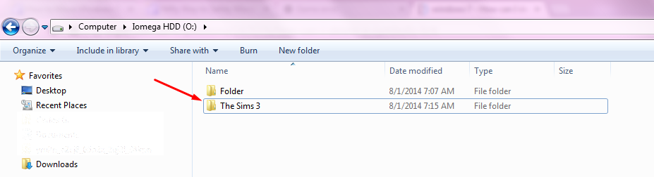 "Redirecting the username folder ""The Sims 3"" to a different location. Screen22"