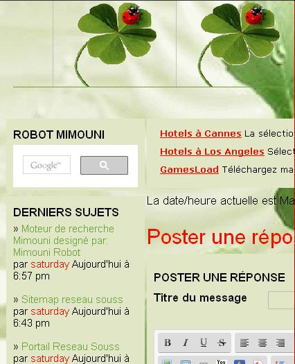 Moteur de recherche Mimouni designé par: Mimouni Robot Mimoun11