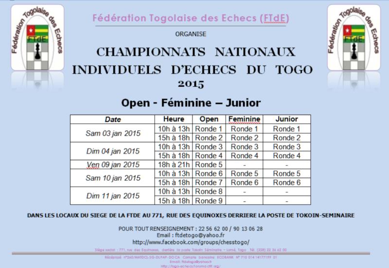 Championnats Nationaux Individuels d'Echecs du Togo 2015 Togo_n11