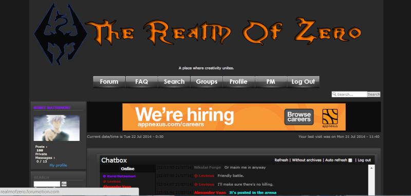 Realm of Zero; **Website** Roz10