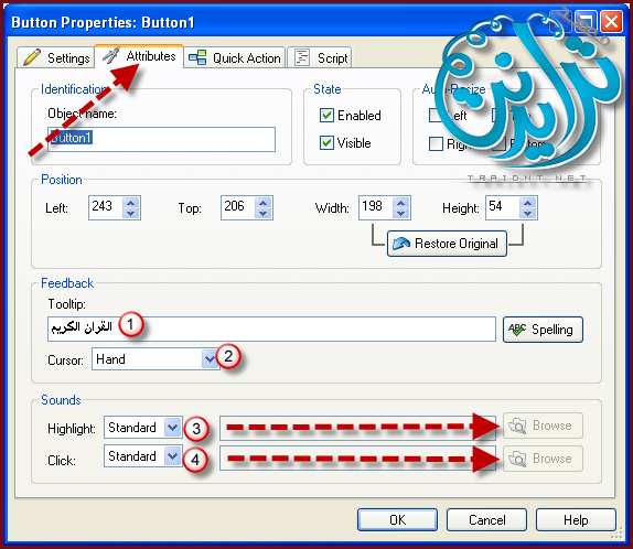 كيفية عمل خلفية صوتية والتحكم بها بزر AutoPlay Media Studio V8.0.7.0 153