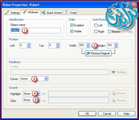 كيفية التعامل مع الفديو وخصائصه AutoPlay Media Studio V8.0.7.0 177