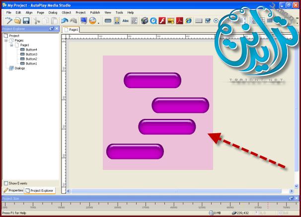 كيفية ترتيب الازرار بشكل صحيح AutoPlay Media Studio V8.0.7.0 178