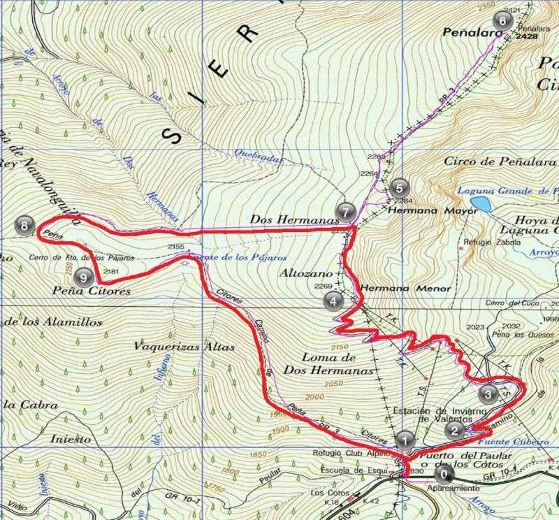 Senderismo: sábado 30 de agosto 2014 - Peña Cítores y la fortificación de la Guerra Civil Mapa_p10