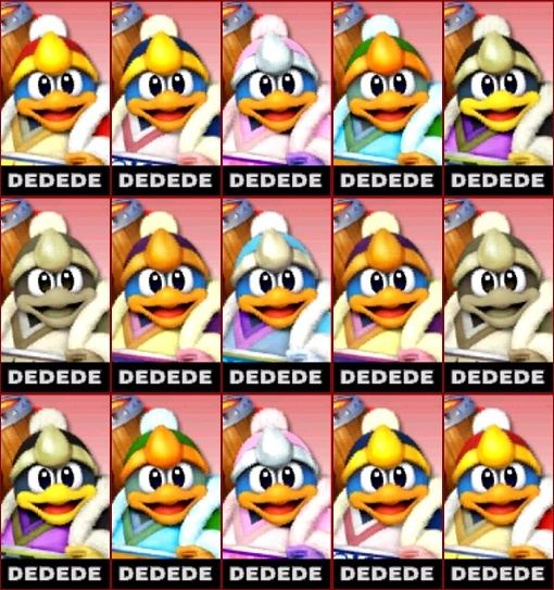 Post your Smash Bros. 4 Roster here! Dedede10