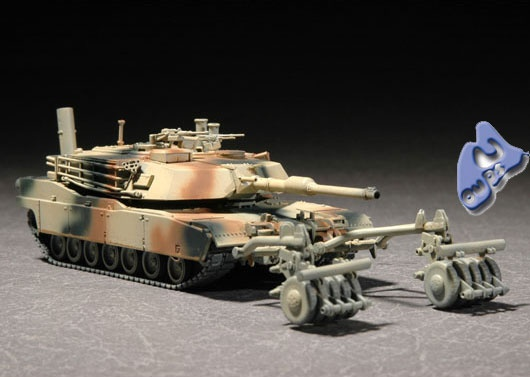 char lourd us.abrams M1 mine roller.1/72 trumpeter. - Page 4 Trumpe10