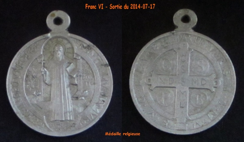 Médaille St-Benoît - début XXème Franc_20