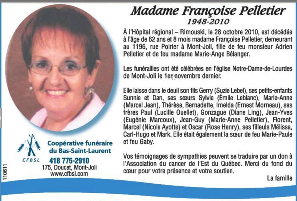 Pelletier, Françoise Franao10