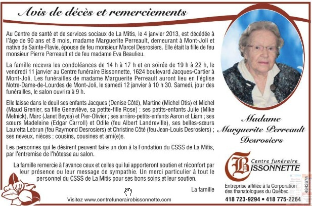 Perreault, Marguerite Margue10