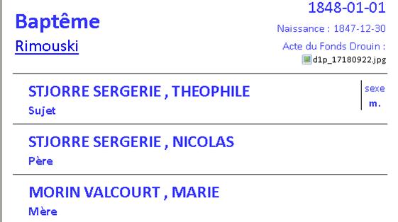 décès de Delvina St-Jore épouse de François Pelletier Thaoph10