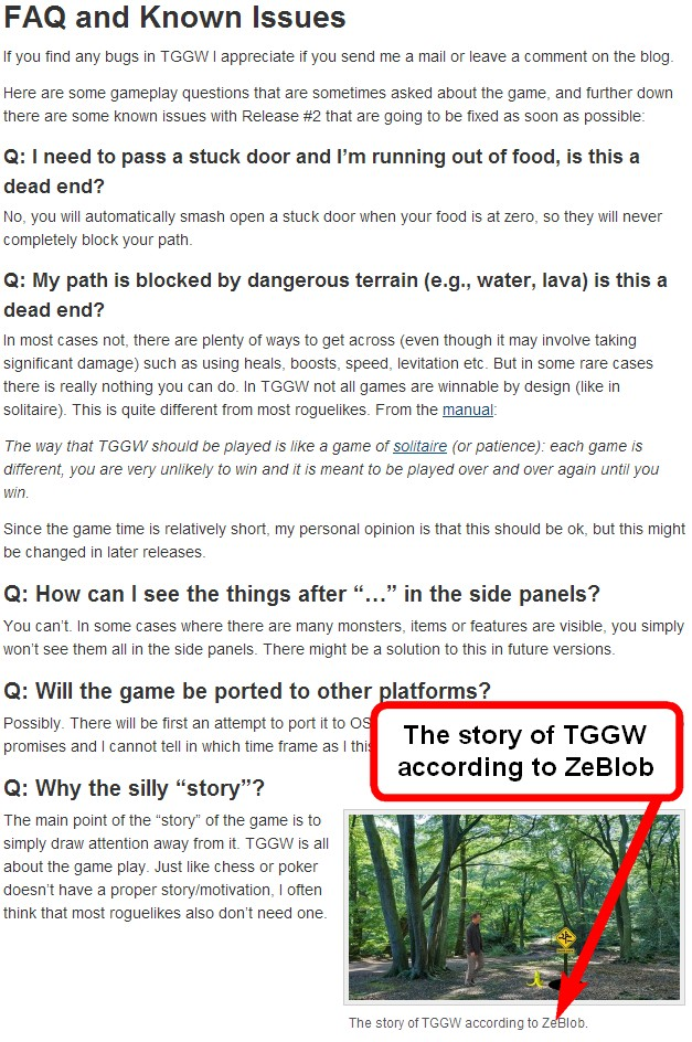 ZeBlob sur le site de The Ground Gives Way Tggw10