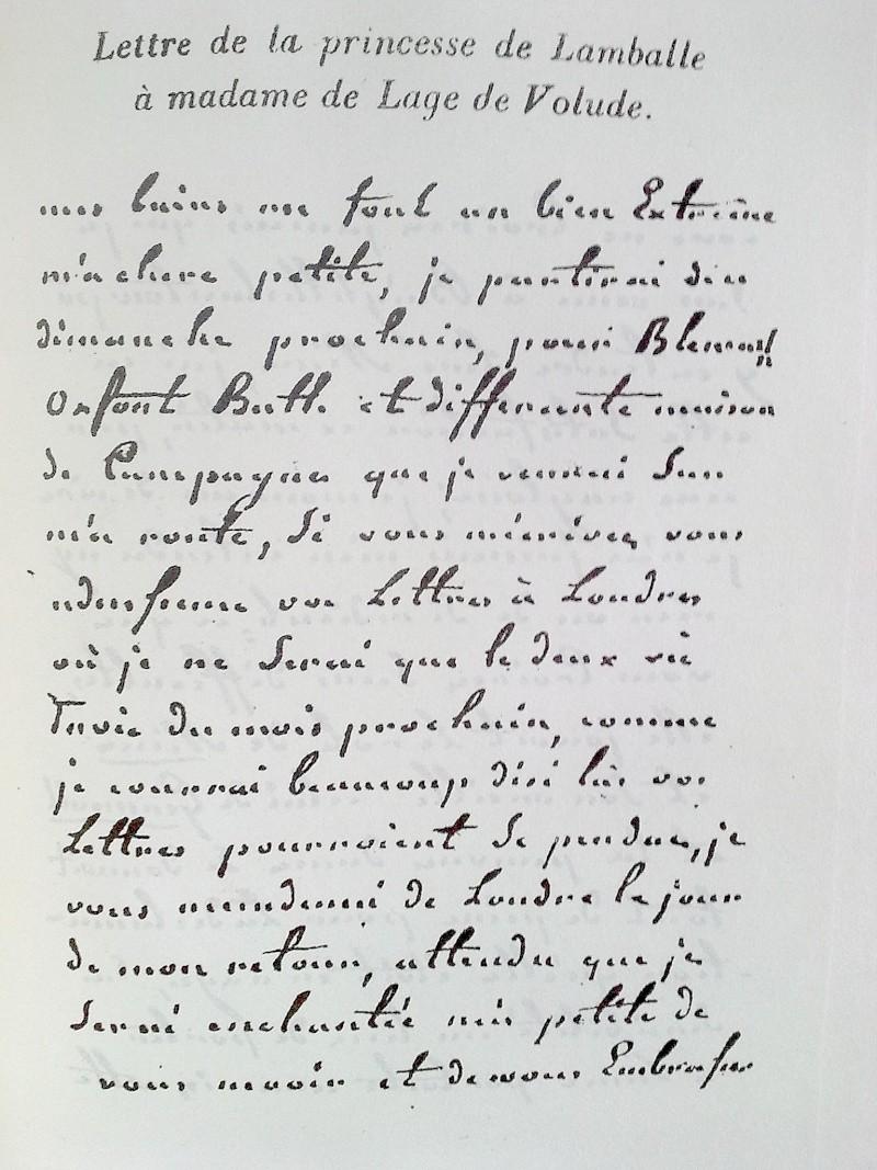 Lettres de la duchesse de Polignac à M. de Calonne - Page 2 Lettre10