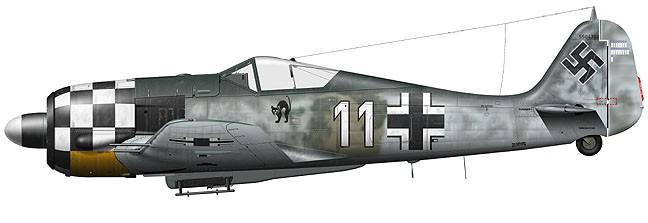 """FW190 A6 1./JG1 Georg """"Murr"""" Schott  eduard 1/48 Tullis10"""