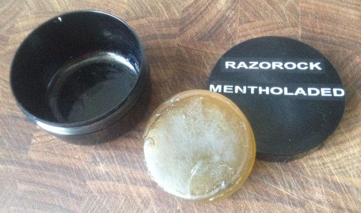 Revue du savon avant rasage Razorock / HTGAM Mentholated Lime 210
