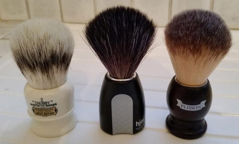 Revue du blaireau Muhle HJM Synthetic Hair Black Fibre ! 221