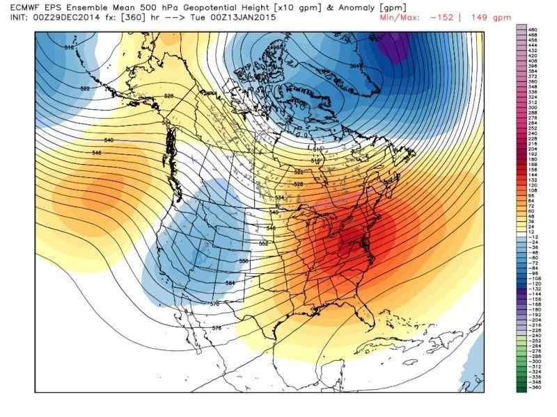 Ensemble Long Range Forecast Case Study #1 (500mb and 850mb) Eps_z512