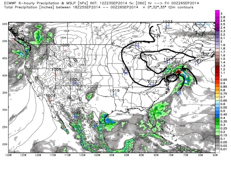 Coastal Storm 9/25/14 Euro_s14
