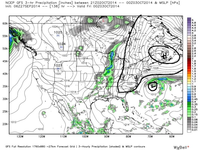 October 1st-3rd Potential Coastal Gfs_su16
